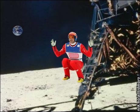 Den første hopperen på månen.