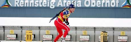 Liv Grete Skjelbreid Poiree er definitivt tilbake i verdenstoppen med dagens seier. (Foto: AFP / SCANPIX)