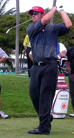 Henrik Bjørnstad under debuten på PGA-touren.(Foto: Øystein Ingdahl/NRK)