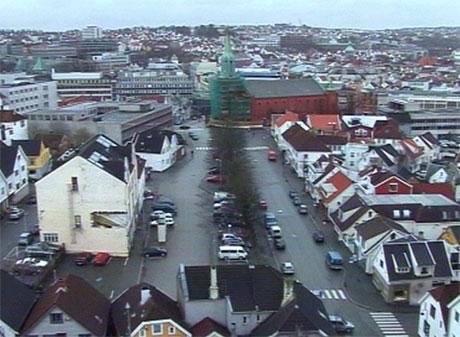 Her kan det komme parkeringshus. Foto: Tom Edvindsen, NRK