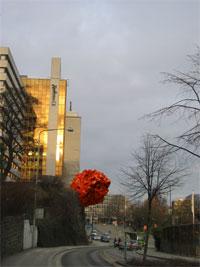 Slik vil kunstneren Jone Kvie ha meteoren plassert i Stavanger.