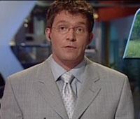 Bjørnar Krisner som journalist på TV-skjermen før han ble syk.