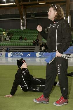 Maren Haugli og trener Peter Mueller håper på topplasseringer. (Foto: Bjørn Sigurdsøn / SCANPIX)