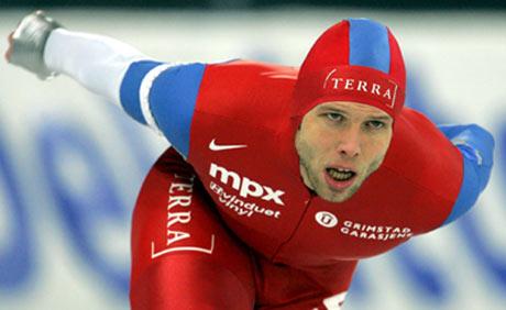 Eskil Ervik vant 5000 meteren i Vkingskipet. (Foto: AP Photo/Matt Dunham)