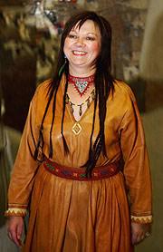 Mari Boine mottok Nordisk råds musikkpris for 2003 (Foto: Erlend Aas / SCANPIX)