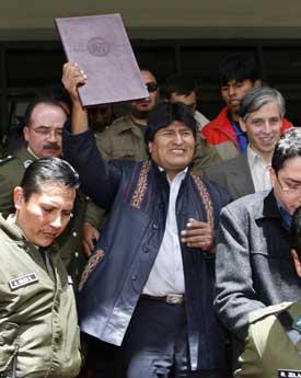 Evo Morales er valgt til president i Bolivia, men er ikke populær i USA. Foto: Scanpix/Reuters.