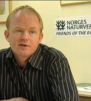 Lars Haltbrekken, leder i Norges Naturvernforbund. Foto: NRK/FBI