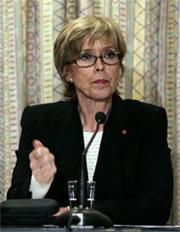Forsvarsminister Anne-Grete Strøm-Erichsen.