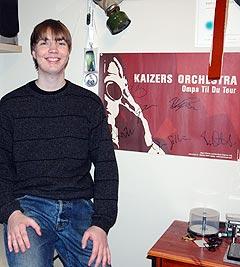 Henning Klokkeråsen (23) er blodfan av Kaizers Orchestra. Foto: NRK.
