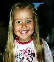 Kristina (4) har lagt i respirator siden rasulykken 14. september 2005. Foto: Privat/Scanpix
