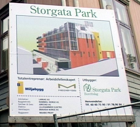 Storgata Park har vært et omstridt byggeprosjekt (Foto: Stein Schinstad)