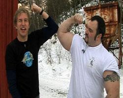 Kven trekk mest på Jorda av oss to, trur du? Foto: NRK
