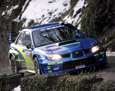 Petter Solberg 20. januar i Rally Monte Carlo i Saint-Sauveur sur Tinee (Foto: AFP/Valery Hach)