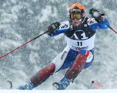 Jean-Pierre Vidal på vei til seier i Kitzbühel. (Foto: AFP/Scanpix)