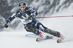 Aksel Lund Svindal på vei til 3. plass i kombinasjonen i Kitzbühel. (Foto: Tor Richardsen / SCANPIX)