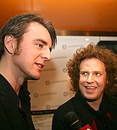 Frode Jacobsen og Robert Burås i Madrugada kunne hente to Alarmpriser. Foto: Arne Kristian Gansmo, NRK.