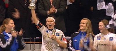 Cupmeister sist haust, no degradert til 1. divisjon. Arkivfoto NRK