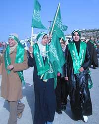 Hamas jhar gjort eit svært godt val i dei palestinske områda. (Foto: Ana Maria Borge Tveit/NRK)