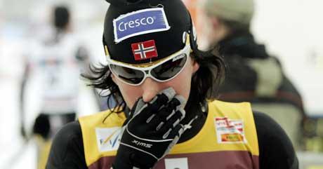 Marit Bjørgen er blitt forkjølet.(Foto: Heiko Junge / SCANPIX)