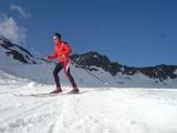 Skiene ble testet på en isbre i Østerrike. Atomic RC9 ble testløypas gullvinner. (Foto: VKI)