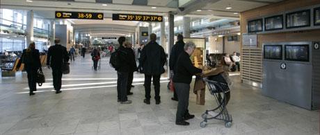 Etter flere dager med kanselleringer, har aktiviteten i avgangshallen på Gardermoen avtatt. Foto: Bjørn Sigurdsøn, Scanpix