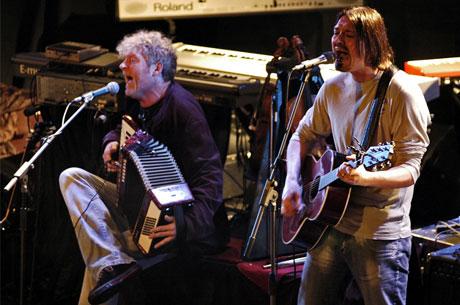 Øyvind Staveland og Vidar Johnsen i Vamp på støttekonserten for Lydloftet. Foto: Tor André Johannessen