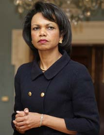 - USA mener fortsatt Hamas er en terror-gruppe, sier Condoleezza Rice. (Foto: Y.Gripas, Reuters)