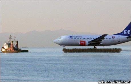 Kreative metoder tas i bruk for å avvikle flytrafikken. (Innsendt av Bjørn Ivar Knudsen)