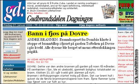 Prøv den nye turistattraksjonen: Dra til Dovre og bann i fjøset. (Innsendt av Døl)