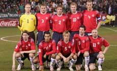 Norge lag i kampen mot Mexico (Foto: Terje Bendiksby / SCANPIX )