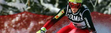 Østerrikes Nicole Hosp vant storslalåmen i Cortina. (Foto: Reuters/ SCANPIX)