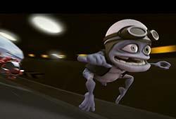Crazy Frog og låta Axel F ble laget som ringetone og lastet ned til så mange mobiltelefoner at den danket ut popstjernene, og gikk rett inn på hitlistene. Illustrasjon: Bonnier