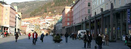 Torgallmenningen i Bergen.(Arkivfoto: Jan Henrik Mo)