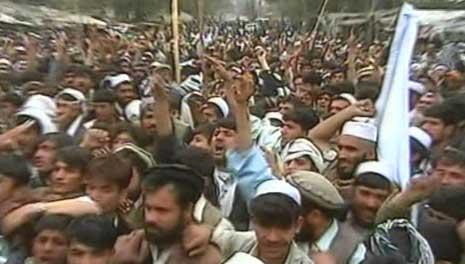 I går var det omfattende demonstrasjoner i Afghanistan. (Foto: Ebu)