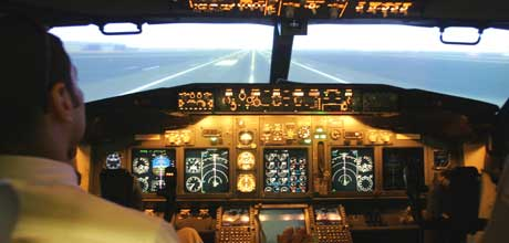 (Flysimulator for Boeing 737-800/Foto: AFP)