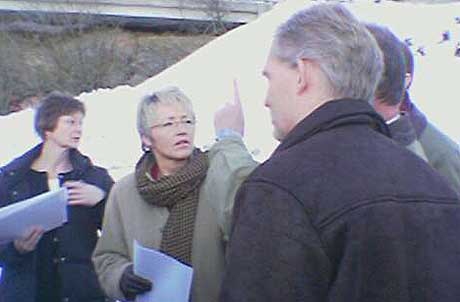 Samferdselsminister Liv Signe Navarsete på befaring (foto: Reidar Mosland)