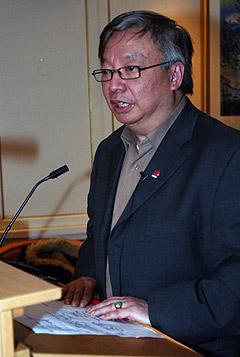 Spåmannen Henning Hai Lee Yang var på by:Larm for å spå om musikkbransjens framtid. Foto: Jørn Gjersøe, nrk.no/musikk.