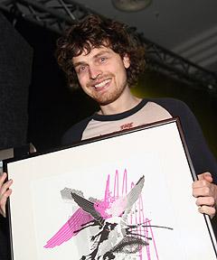 Magnus Eliassen fikk Djuice-prisen. Foto: Arne Kristian Gansmo, NRK