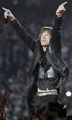 Mick Jagger og Rolling Stones under pauseunderholdningen på SuperBowl 5. februar. Snart står Rio for tur. Foto: Timothy A. Clary, AFP Photo / Scanpix.