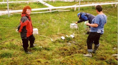 Professor Mette Svenning fra Universitetet i Tromsø undersøker tundraens utslapp av klimagassen metan.