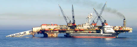 Statoil i ferd med å legge ut gassledning i Nordsjøen. (Foto: Scanpix)