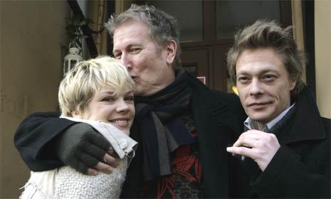 Skuespillerne Ane Dahl Torp og Kristoffer Joner sammen med filmregissør Hans Petter Moland. (Foto: Bjørn Sigurdsøn/Scanpix)