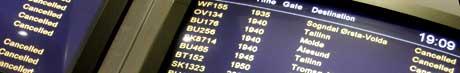 Gardermoen har gått ned til femteplass i en undersøkelse over Europas mest punktlige flyplasser. Foto: Scanpix