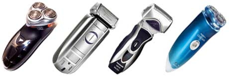 Fra venstre testvinner Philishave SmartTouch, Braun Activator, Philips Philishave Cool Skin og Panasonic Wet/Dry. Foto: ICRT