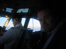 I cockpit, med god utsikt. Foto Andreas Toft.