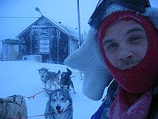 Andreas har samlet hundene. Foto Andreas Toft.