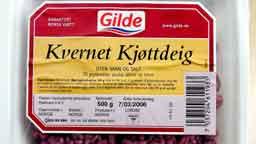 Det var fredag Mattilsynet opplyste at kjøttdeig fra Gilde trolig var smittekilden (Foto Håkon Mosvold Larsen / SCANPIX )