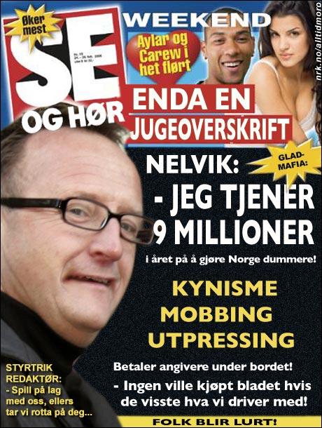 Journalistene i Norges gladeste blad skriver om sin egen redaktør. (Alltid Moro)