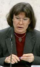 Jordbruksminister Ann-Christin Nykvist. (Foto: SvT)
