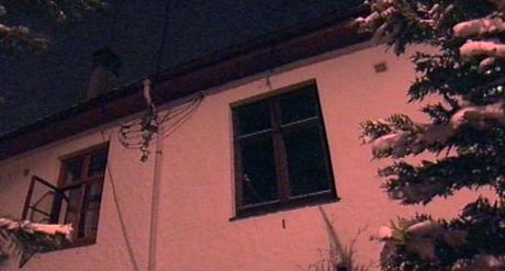 Brannen var i dette huset i Bjørndalen. Foto: NRK.